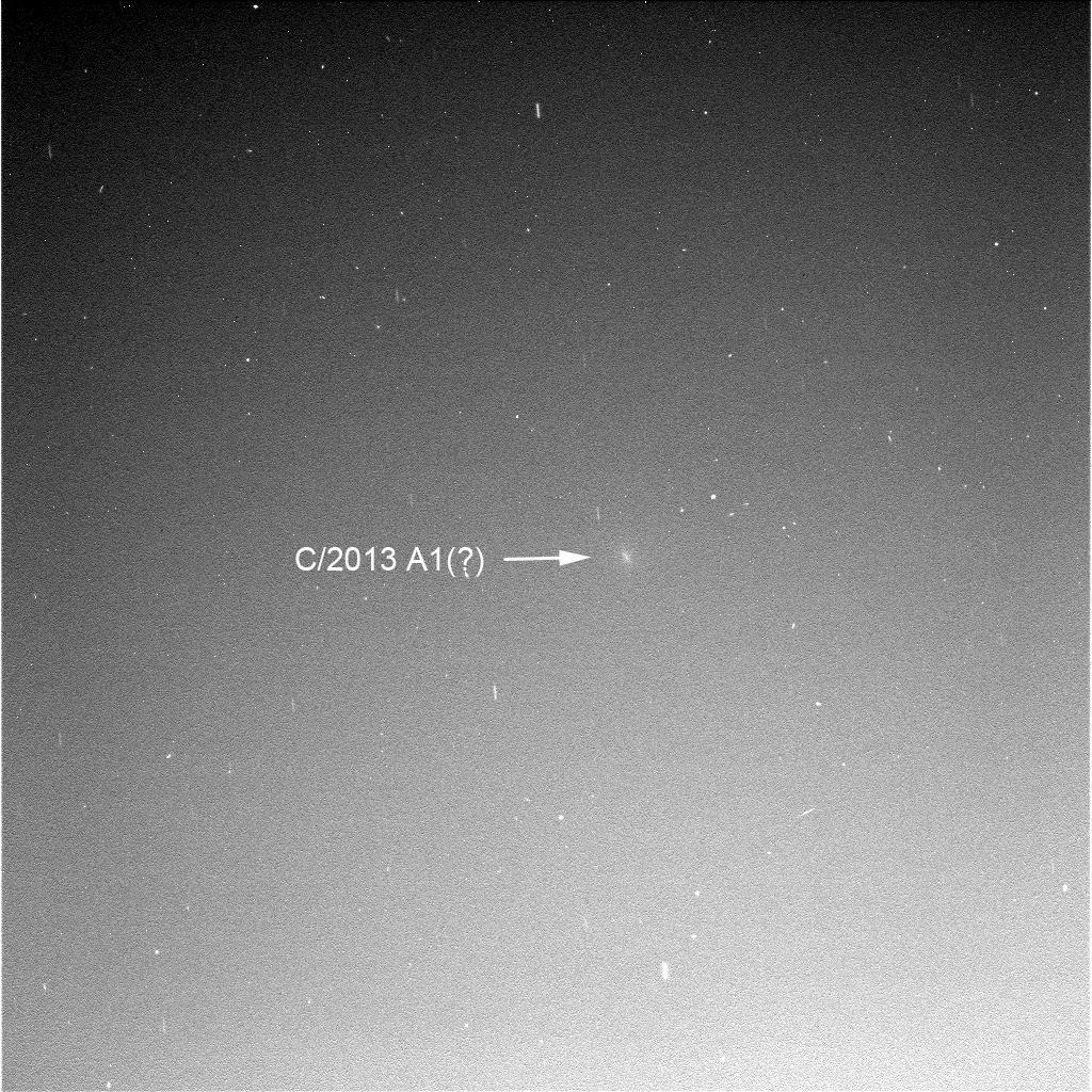 Ein diffuser Fleck am Marshimmel, aufgenommen gestern abend (Sol 3817) vom Marsrover Opportunity - ist es Siding Spring?