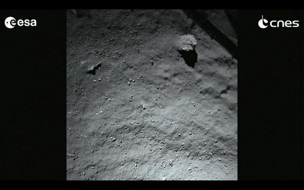 Die Oberfläche von 67P, Sekunden vor dem Aufsetzen