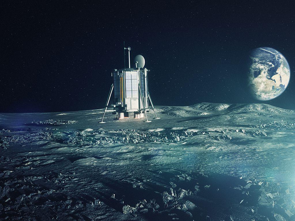 Eine schwarmfinanzierte, unbemannte Mondlandung im Jahr 2024 plant die Firma Lunar Missions Ltd. Bild: Lunar Missions Ltd.
