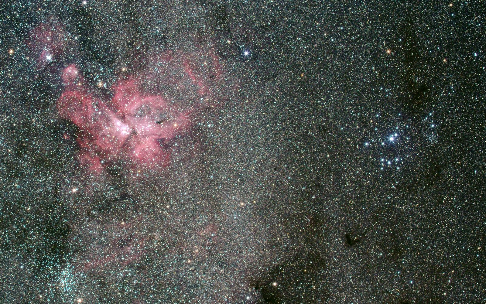 Eta-Carinae-Nebel und Südliche Plejaden