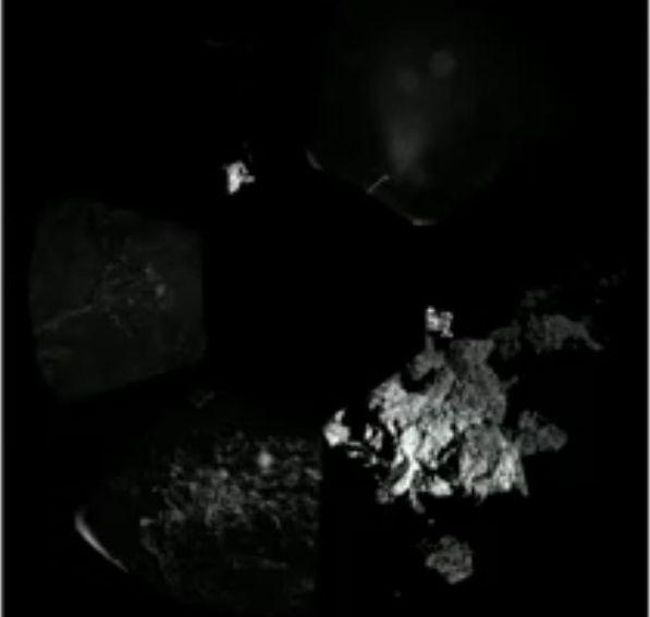 Panotrama der CIVA-Bilder rund um die Landestelle