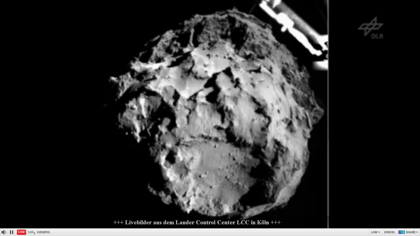 3 Kilometer über Komet 67P