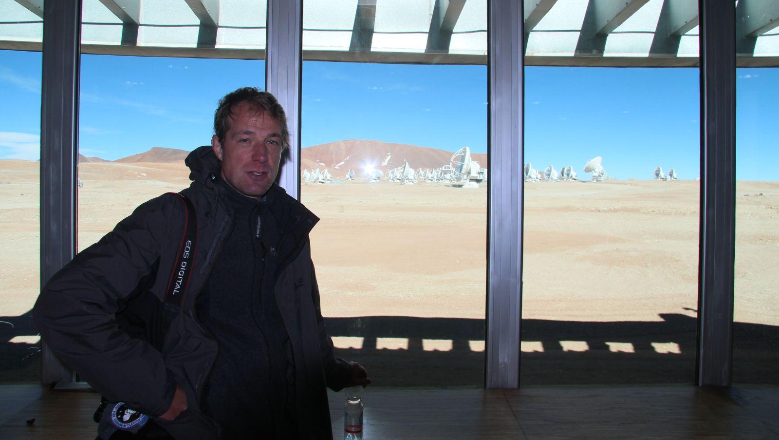 Blogger nach überlebtem ALMA-Besuch. Er sieht sonst frischer aus. Bild: Georg Görgen