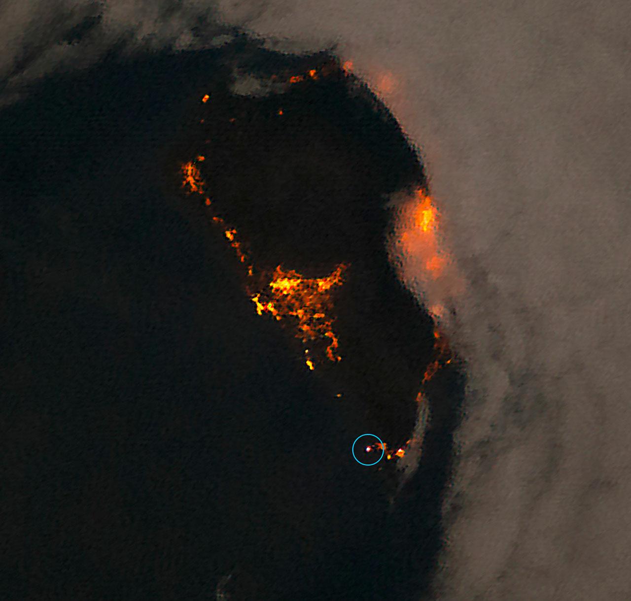 La Palma bei Nacht - ein Schutzraum für die dunkle Nacht. Bild: NASA/ESA/A. Sánchez de Miguel