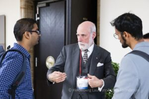 Vint Cerf talks with young researchers at HLF