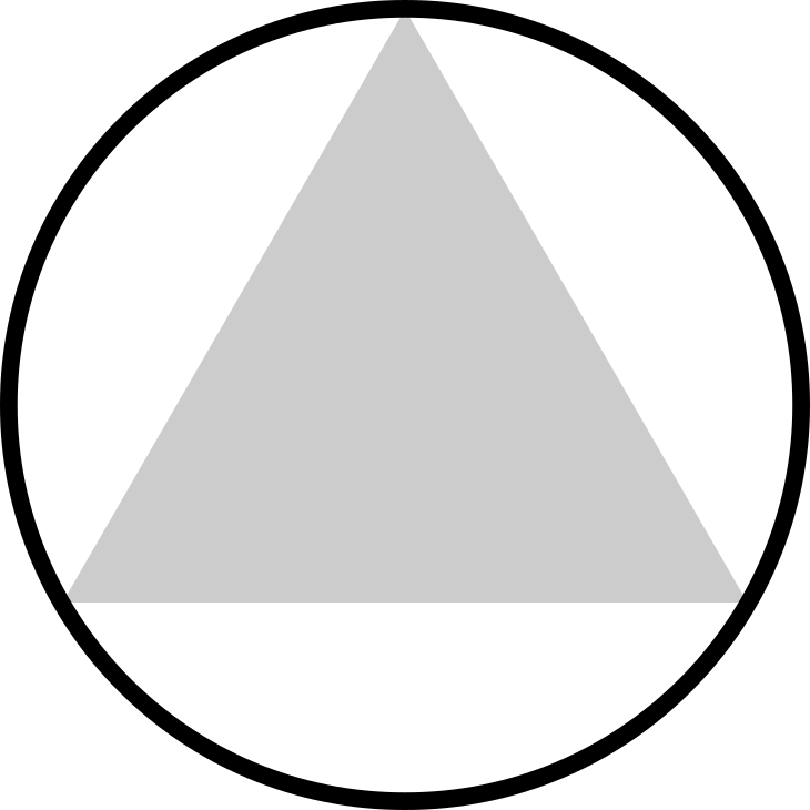 A triangle inside a circle