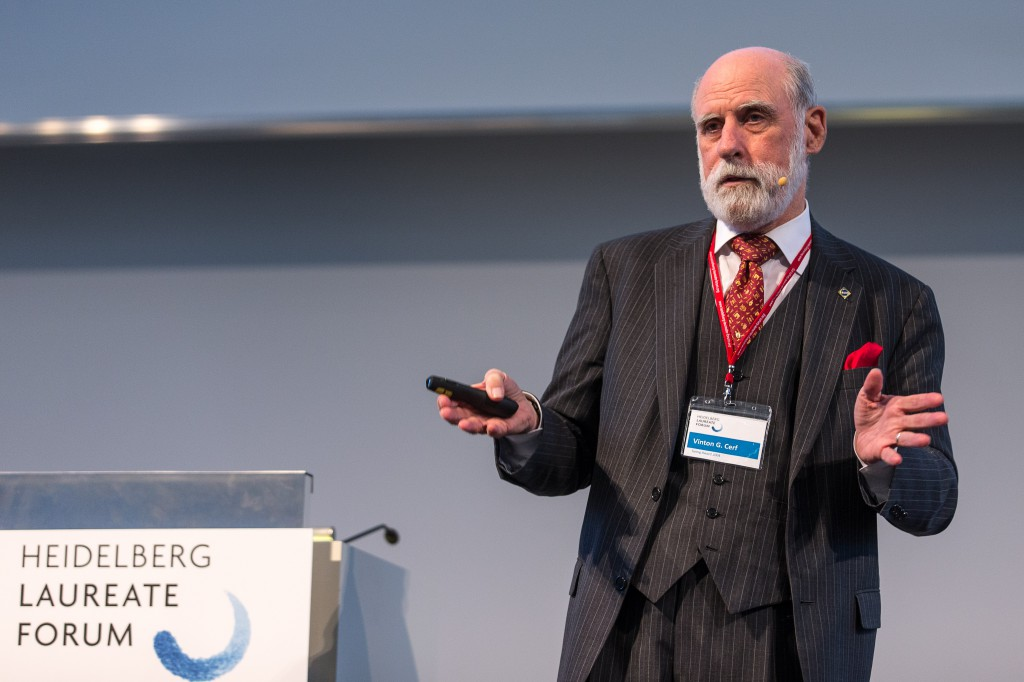 Vint Cerf at #hlf14 Credit: hlff/Flemming