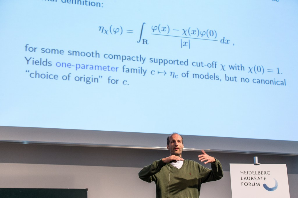 Martin Hairer at the 2014 HLF - no lack of fascination! Image credit: hlff/Flemming