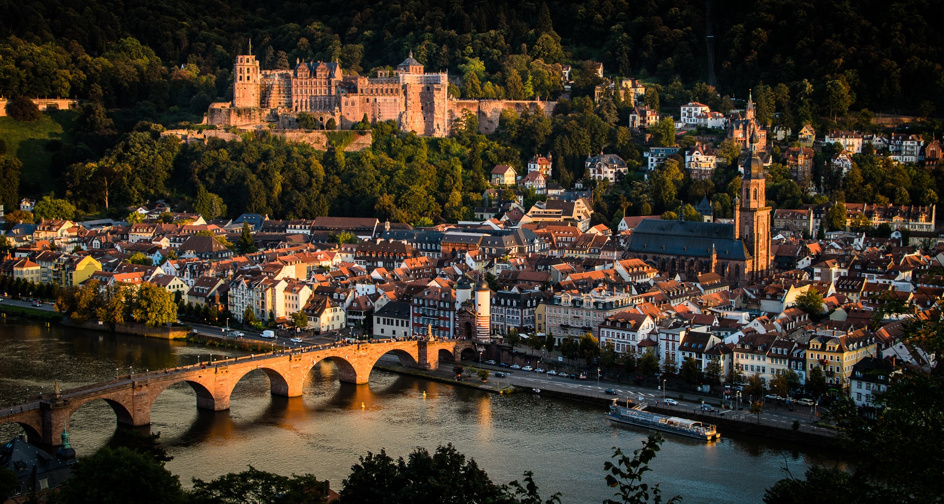 Sunset in Heidelberg - © Anna Vasilchenko