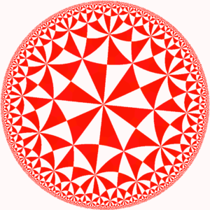 Poincaré Disc, with (6,4,2) triangular hyperbolic tiling