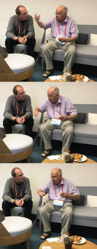 Michael Atiyah (rechts) und der Autor. Bild: Tobias Meier