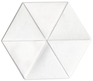 Paper hexaflexagon