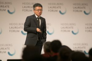 Ngo Bao Chau lecturing at the HLF
