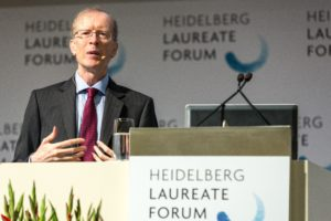 Andrew Wiles lecturing at the HLF