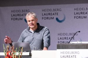 Edvard Moser during the Lindau-Lecture