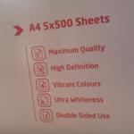 Box of A4 paper listing its many wonderful properties