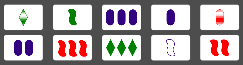 Pairs of cards to find the third one of