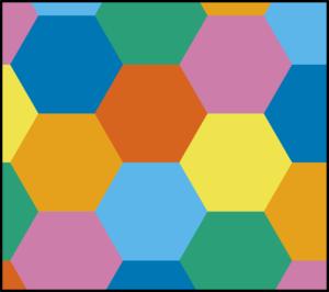 Regular tiling by hexagons