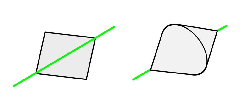 Rotogon - square rotated around a diagonal