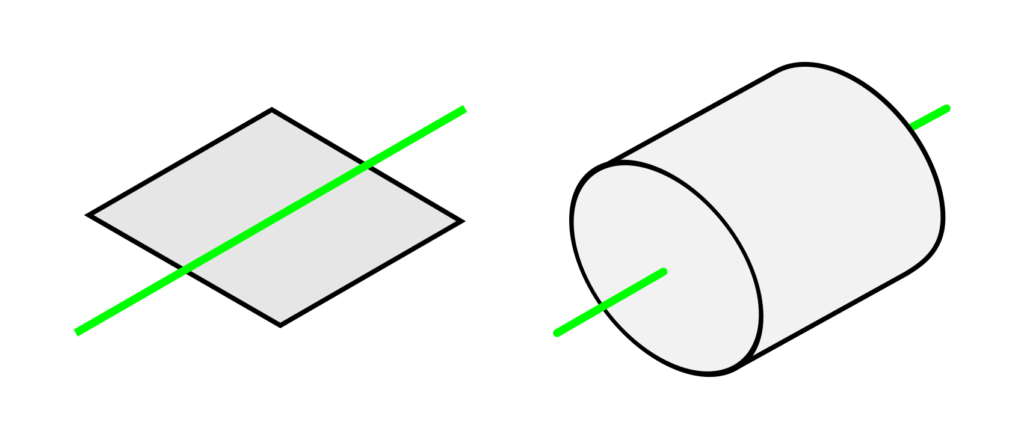 Rotogon - square rotated around a perpendicular axis