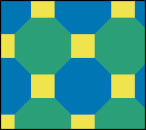 Semiregular tiling by squares and octagons