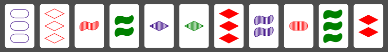 Example SET cards