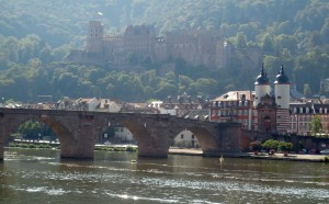 A view of the castle and bridge appropriately called Old Bridge