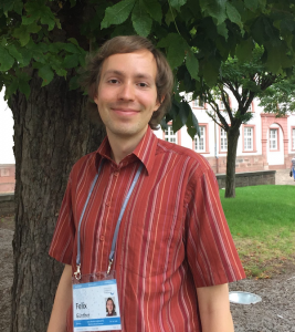 Dr. Felix Günther in the inner yard of Heidelberg university 2015 - now as a Post-Doc Picture: B.Lugger