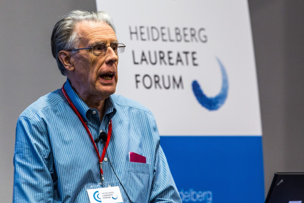 John Hopcroft during his lecture at #hlf13   © HLFF // C.Flemming - All rights reserved 2013