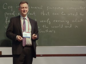 Vladimir Voevodsky at the blackboard