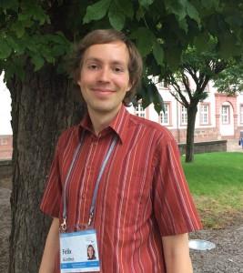 Felix Günther im Innenhof der Universität Heidelberg Bild: B.Lugger