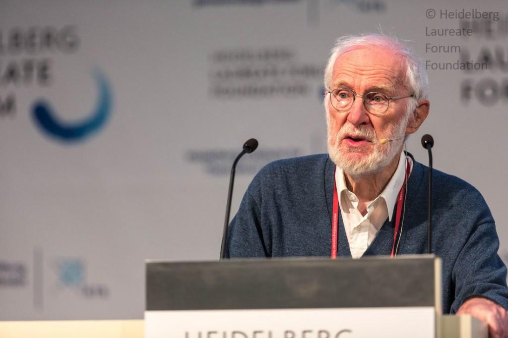Peter Naur beim Heidelberg Laureate Forum 2015 © HLF / Christian Flemming