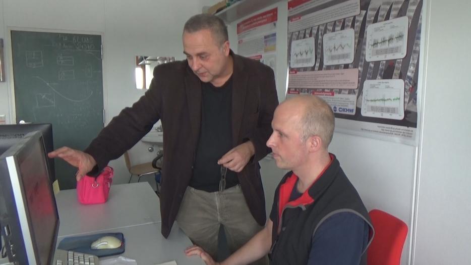 Die Umweltphysiker Michael Buchwitz und Maximilian Reuter während unseres Gedankenaustausches