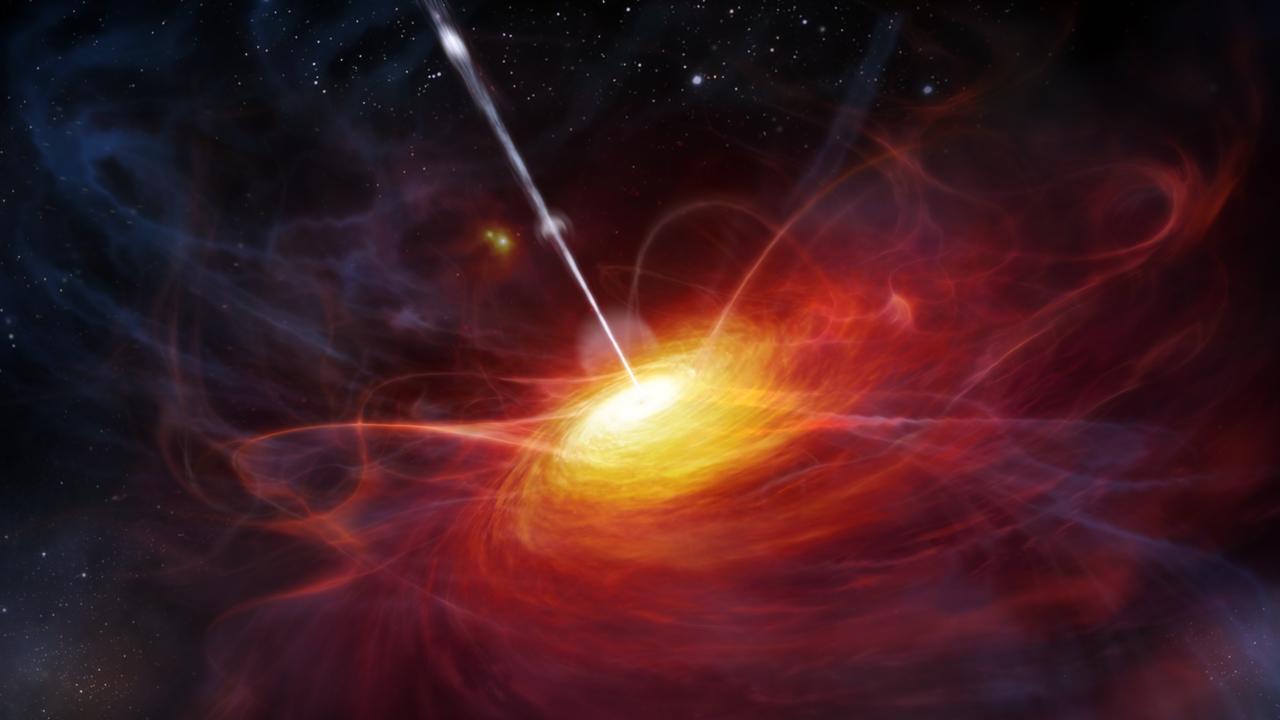 Schwarzes Loch in einem Quasar