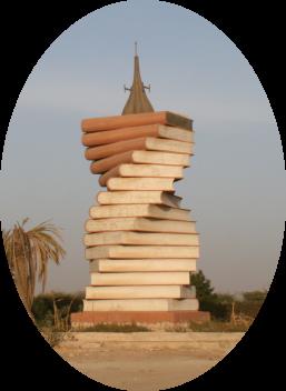 Denkmal in einem Autokreisel Nuwakschut (SMH 2008)