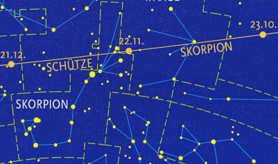 Skorpion: Sternbild und Sternzeichen (Grafik: SMH 2001)