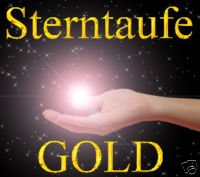 Sterntaufe Gold