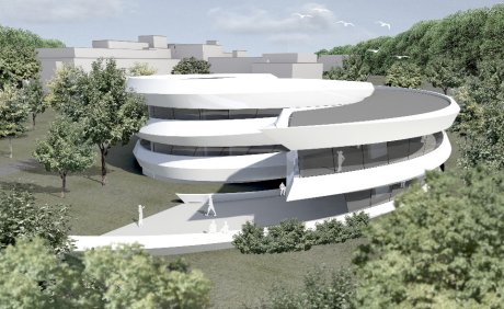 Haus der Astronomie Architektenentwurf (© Bernhard+Partner, Darmstadt)