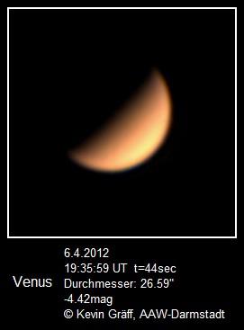 Venus 6.4.2012 5m Brennweite