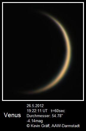 Venus 26.5.2012 5m Brennweite
