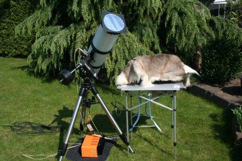 Ausrüstung zur Sonnenbeobachtung