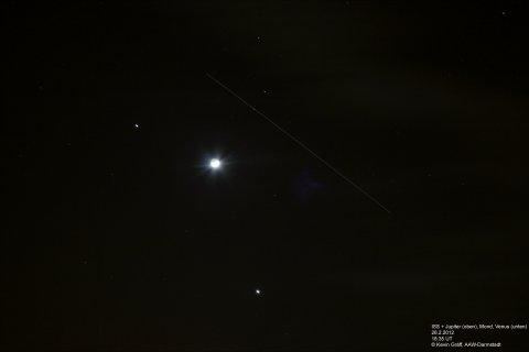 ISS, Mond, Venus, Jupiter 26.2.2012
