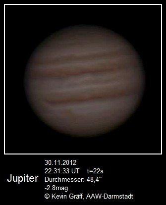 Jupiter 30.11.2012