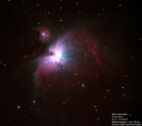 Orionnebel 15.01.2012 M42