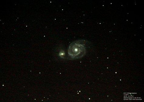 Referenzbild von M51 Whirlpoolgalaxie
