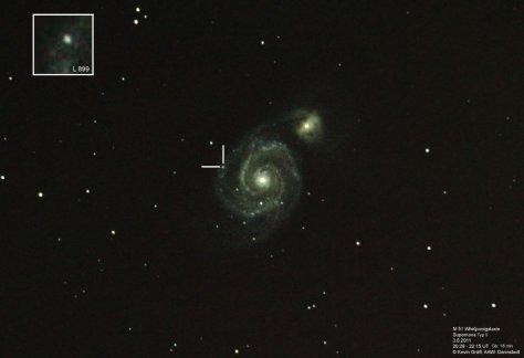 M51 + Supernova 3.6.2011