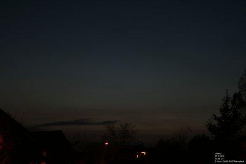 Merkur 26.2.2012 Abenddämmerung