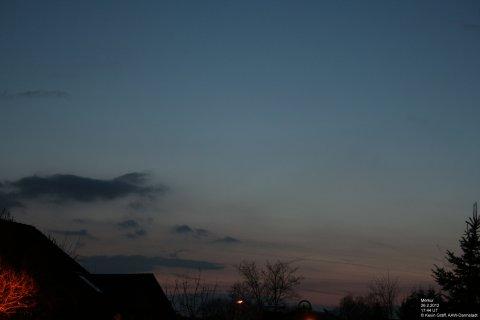 Merkur Abenddámmerung 26.2.2012