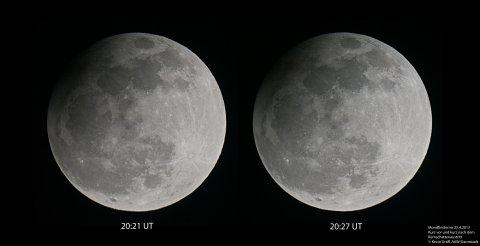 Mondfinsternis 25.4.2013 Kernschattenaustritt