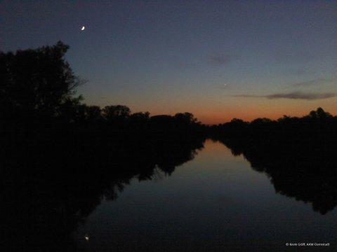Venus, Mond Kühkopf 24.5.2012